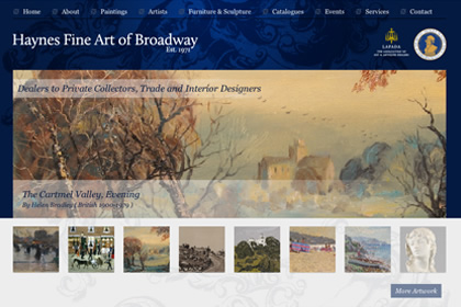 Website Design - Hayne Fine Art