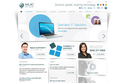 MJC Group provide IT support and consultancy, computer security, network cabling and managed servers and network management services to businesses throughout the West Midlands in the UK